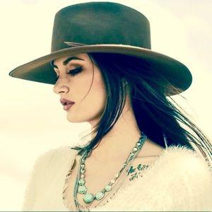 Suede Cowboy Cowgirl Western Boho Hat Like New